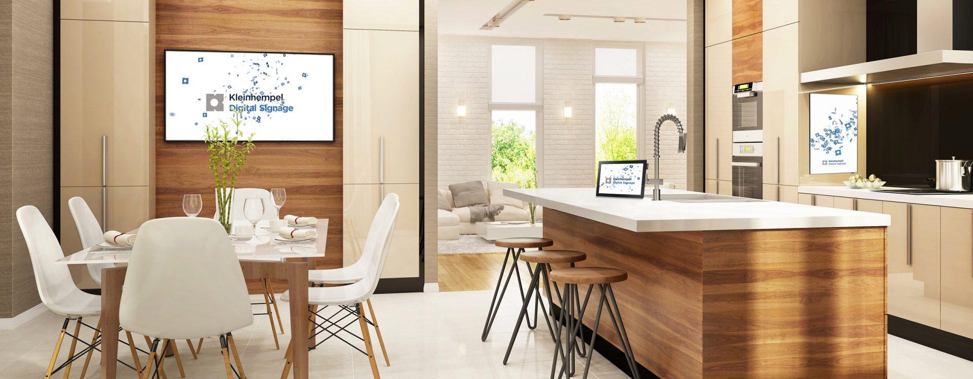 Kleinhempel Digital Signage Mockup einer Küche
