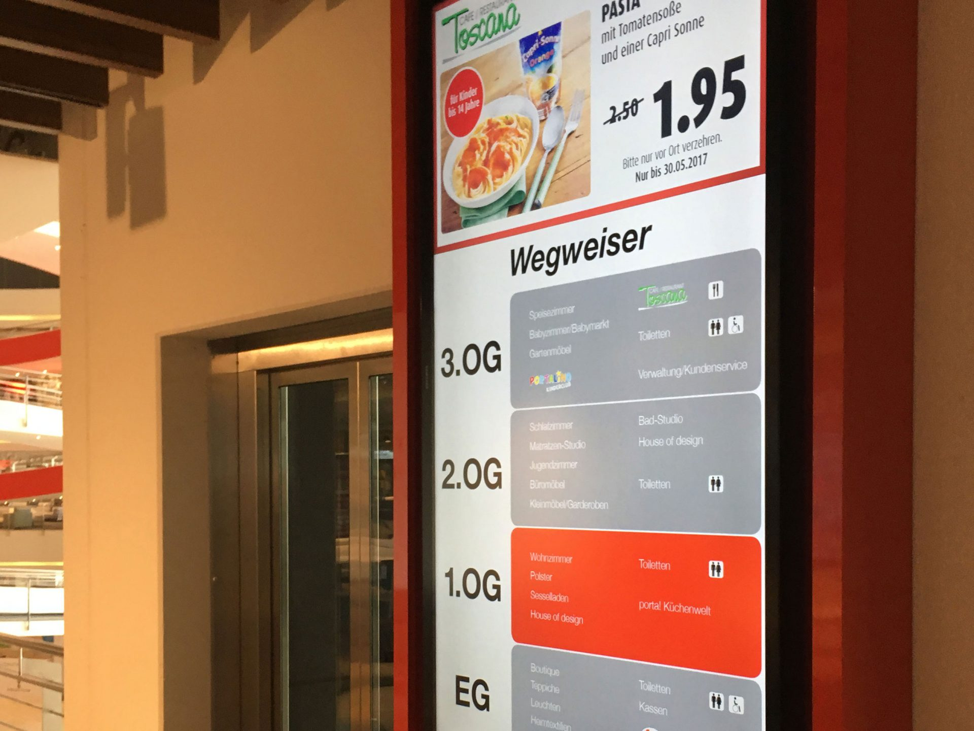 Digital Signage-Etagenplan mit Touch-Funktion