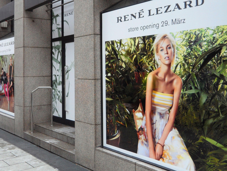 Shop-Dekoration für René Lezard