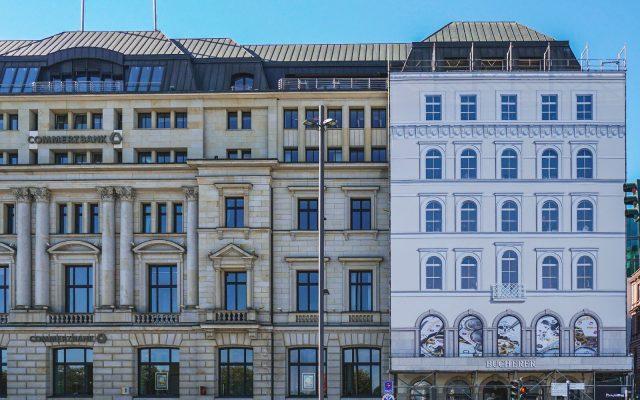 Fassadennachbildung Bucherer am Hamburger Jungfernstieg in Hamburg von Kleinhempel Large Format Printing