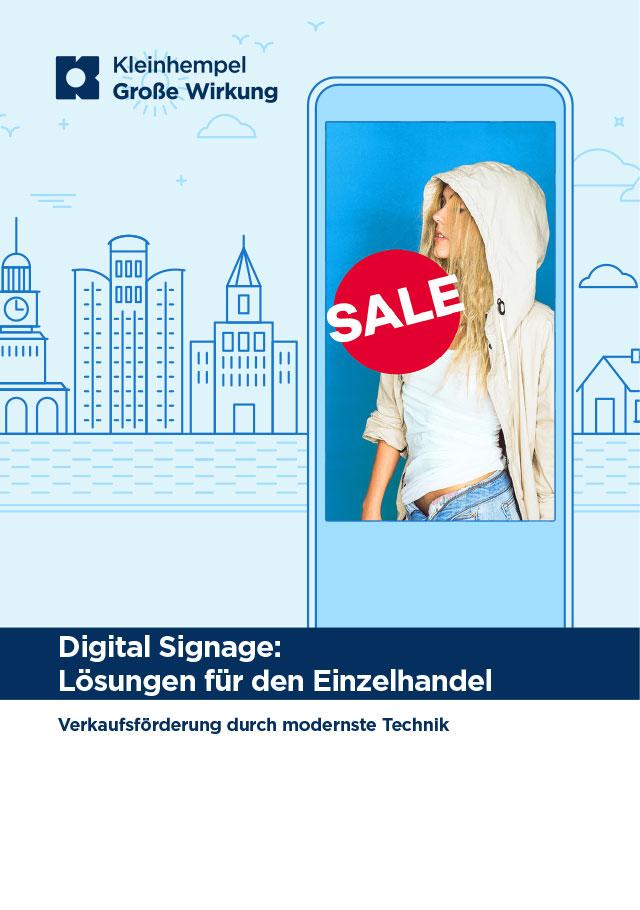 Kleinhempel Digital Signage - Lösungen für den Einzelhandel Broschüren-Vorschaubild