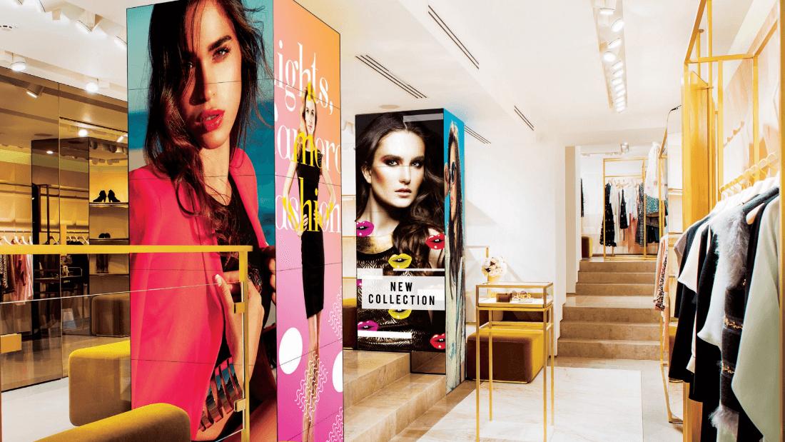 Digital Signage-Symbolbild vom Mode-Einzelhandel
