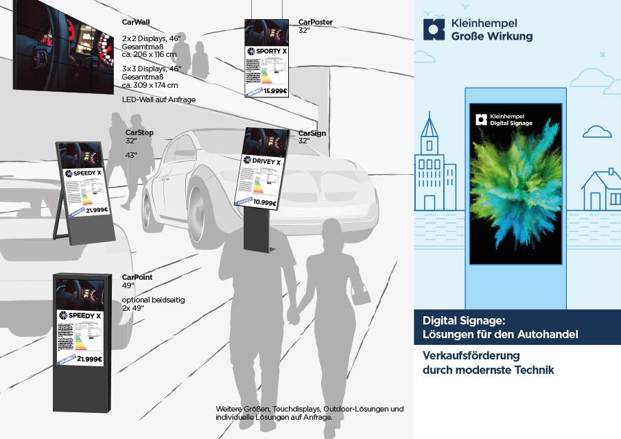 PDF-Vorschau auf Digital Signage-Lösungen für den Autohandel