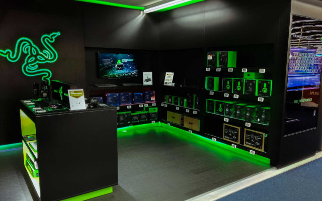 Digital Signage am Point of Sale der Gaming-Marke Razer in Hamburg