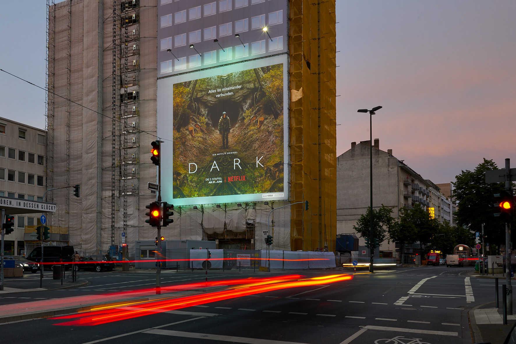 Großformatdruck für Netflix in Düsseldorf