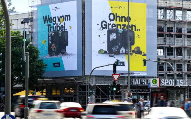Large Format Printing: Riesenposter für GoPro an der Schäferkampsallee