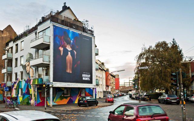 Großposter für Absolut Vodka in Köln