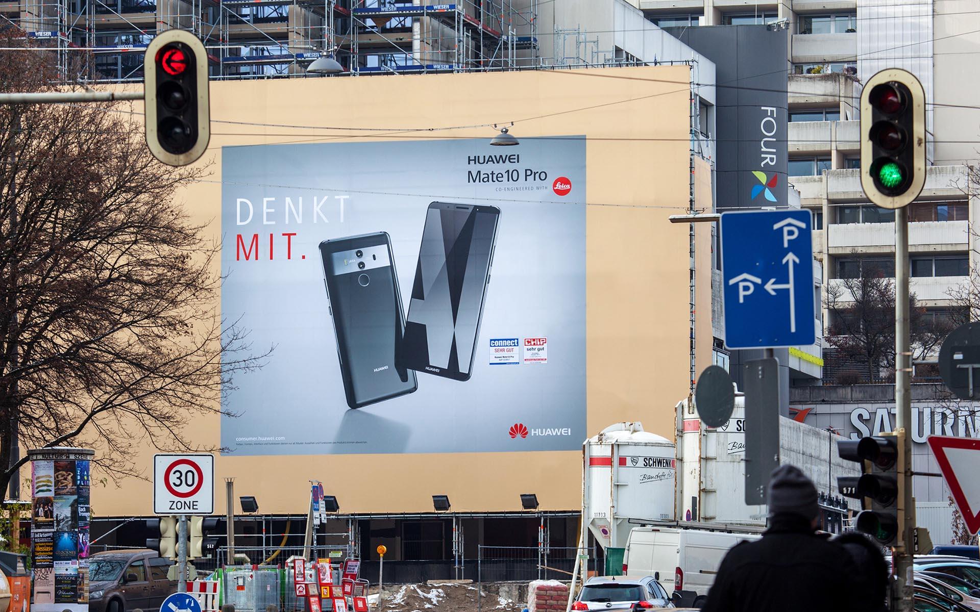 Riesenposter für Huawei in München