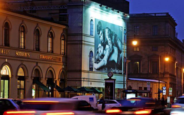 Riesenposter für Calvin Klein in München
