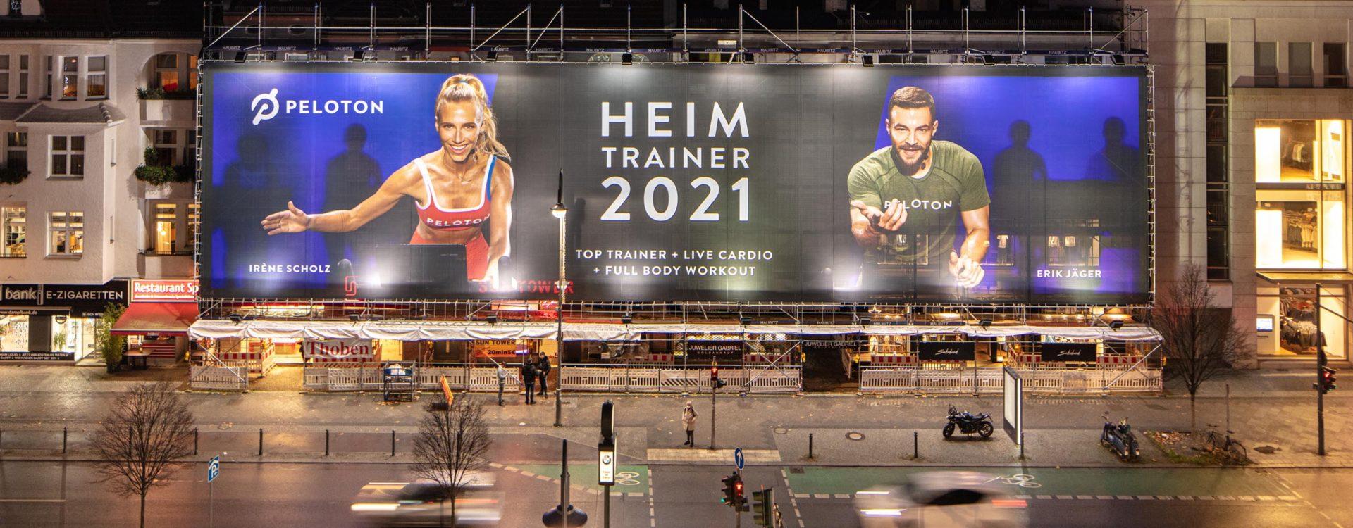 Riesenposter für Peloton in der Berliner Schlossstraße