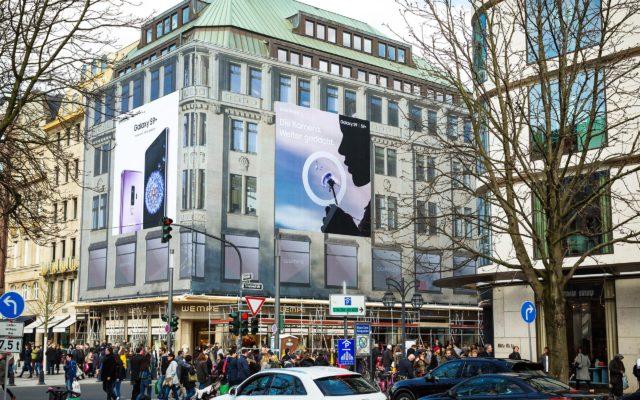 Samsung-Riesenposter in Düsseldorf
