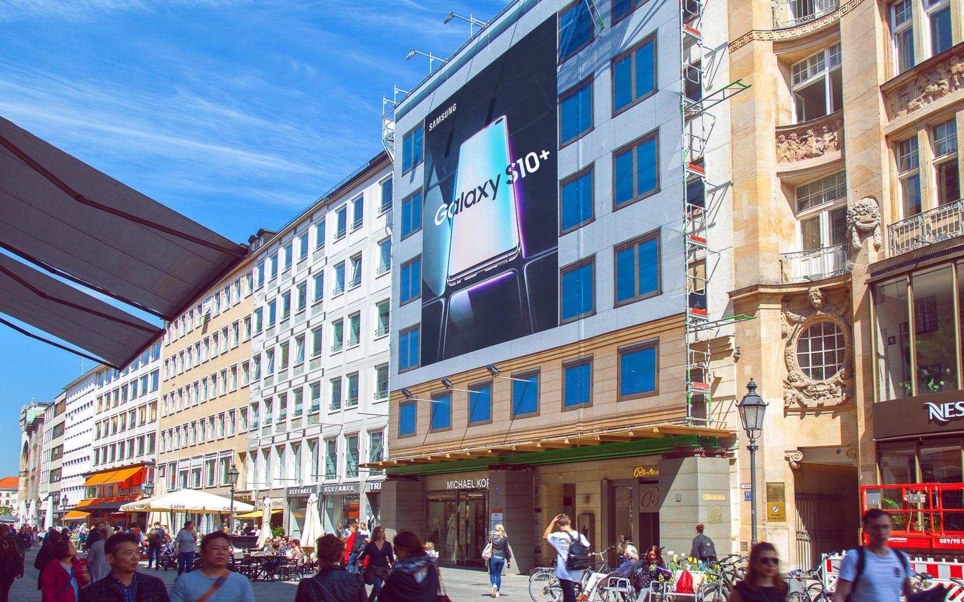 Samsung Riesenposter in München