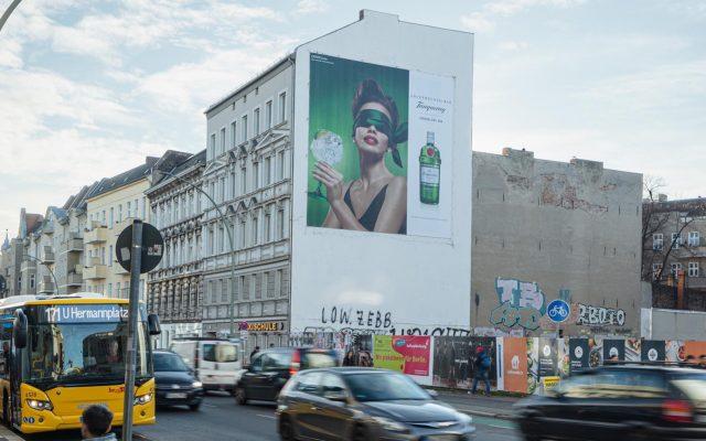 Riesenposter für Tanqueray in Berlin