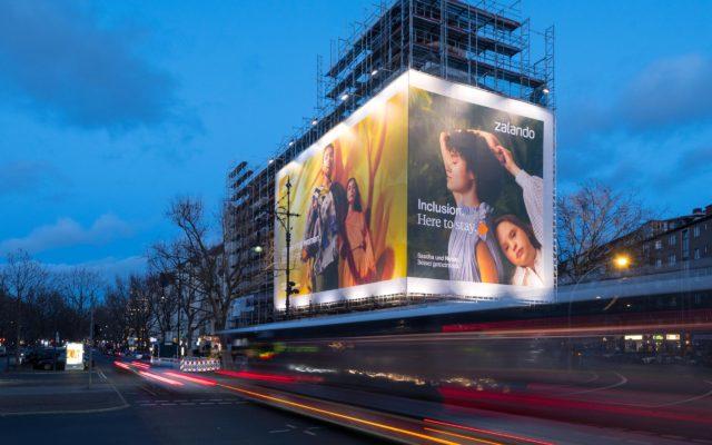 Riesenposter für Zalando in Berlin
